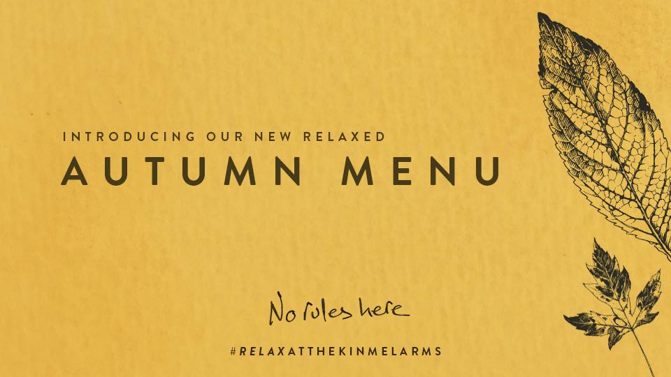 New Autumn Menu at The Kinmel Arms